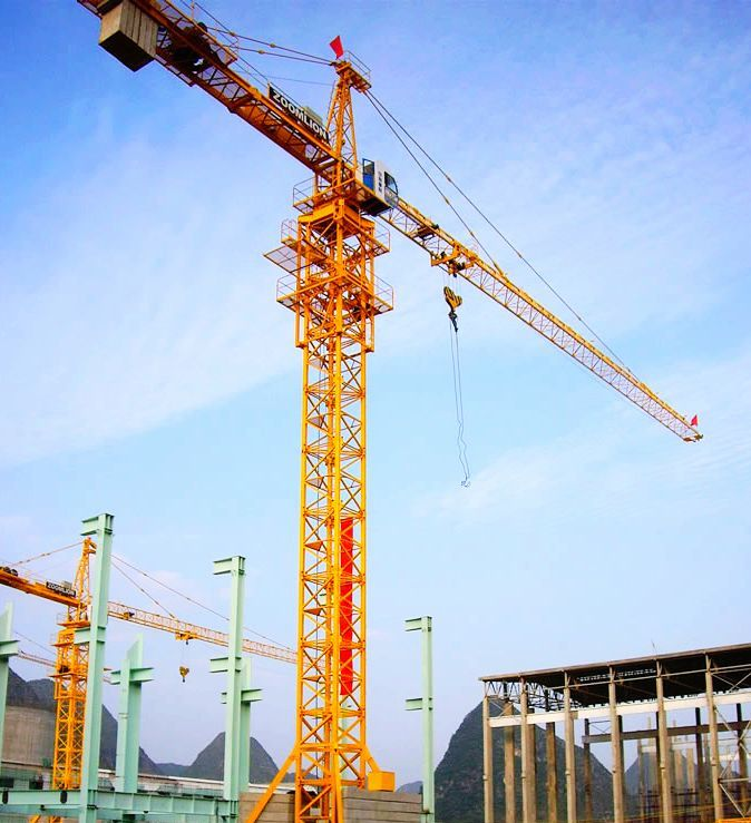 46.2m 8t Potain Tower Crane TC6010 / Luffing Crane With Trolleying m/min 42.8/ 21.4 4.5/3