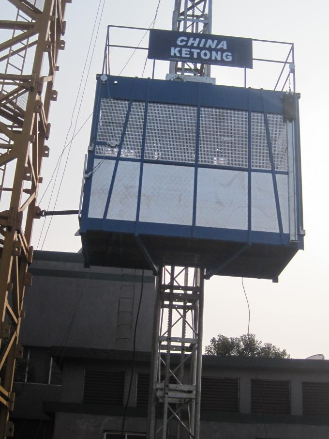 Customized Goods Builder Hoist Elevator 3200kg Twin Cage without VFD