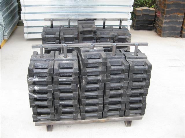 25 * 50 pcs Steel Counter Weight of Working Suspended Platform Parts