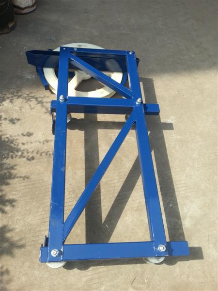 Odm Steel Red And Blue Cable Trolley For Construction