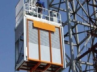 Low Noise Construction Material Hoist High Efficiency Strong Carry Capacity