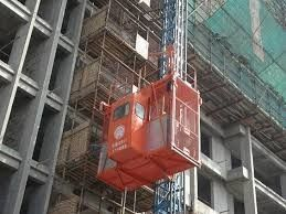 Light Construction Passenger Hoist High Running Speed Large Lifting Capacity