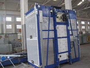 Blue Cage Of Construction Hoist Elevator , Building Lifting Machine