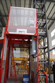 Construction Material Man Material Hoist / Lifting Hoist Equipment With Single And Double Cage
