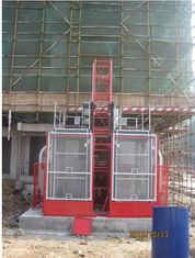 Painted Material Construction Lifter / Construction Site Lift For Industrial