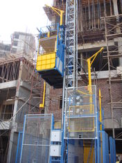 Blue Twin Cage Construction Material Hoists for Building SC200