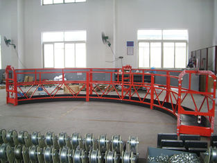8 -10 m / min Aluminum Alloy Arc Rope Suspended Platform for Building Cleaning