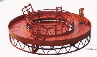 Red Rounded Lifting Powered High Working Rope Suspended Platform for Building Maintenance