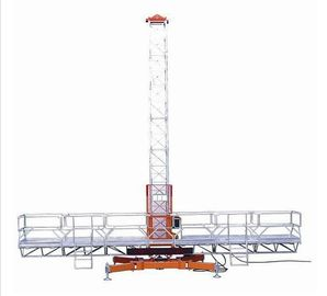 Building Cleaning Mast Climbing Aerial Work Platform Lifting Electric 1000kg