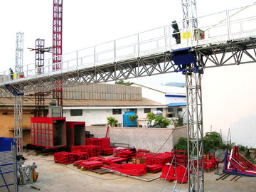 Aerial Twin Lifting Mast Climbing Work Platform For Building Cleaning Maintenance