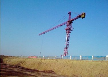 16ton Potain Tower Crane / Luffing Crane 7034 Stationary Attached with Self-climbing Cage & Pump