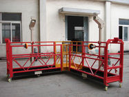China 90 Degree Red Steel Rope Suspended Platform Cardle for Building Cleaning company