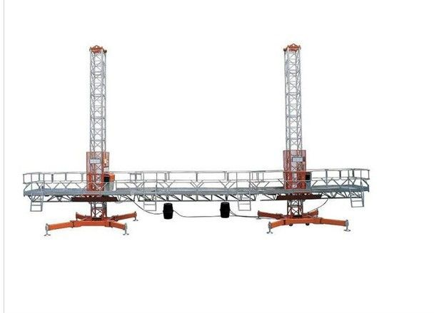 pl434037 30m_construction_aerial_single_mast_climbing_work_platform_for_building_maintenance mast climbing work platforms on electric aerial wiring