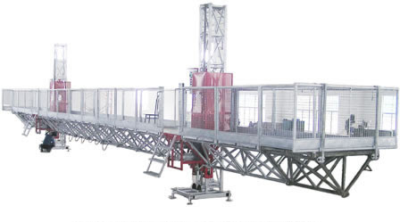 Window Cleaning Mast Climbing Work Platform , Construction Lifting Platform