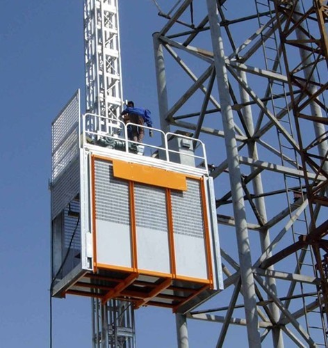 Material Construction Hoist Elevator for Building , Transport Platforms