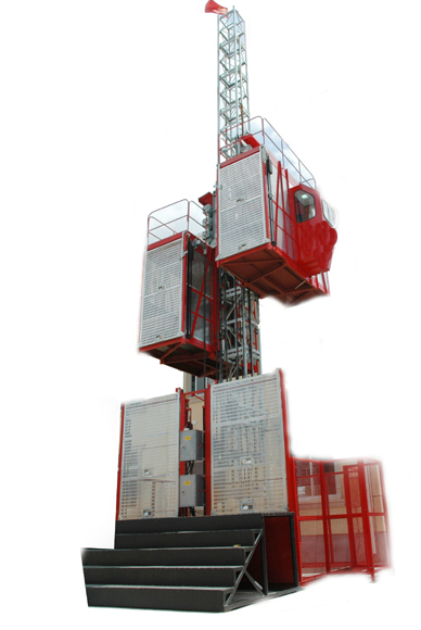 Custom 2700kg Construction Hoist Elevator for Building , 3.0 x 1.3 x 2.5m