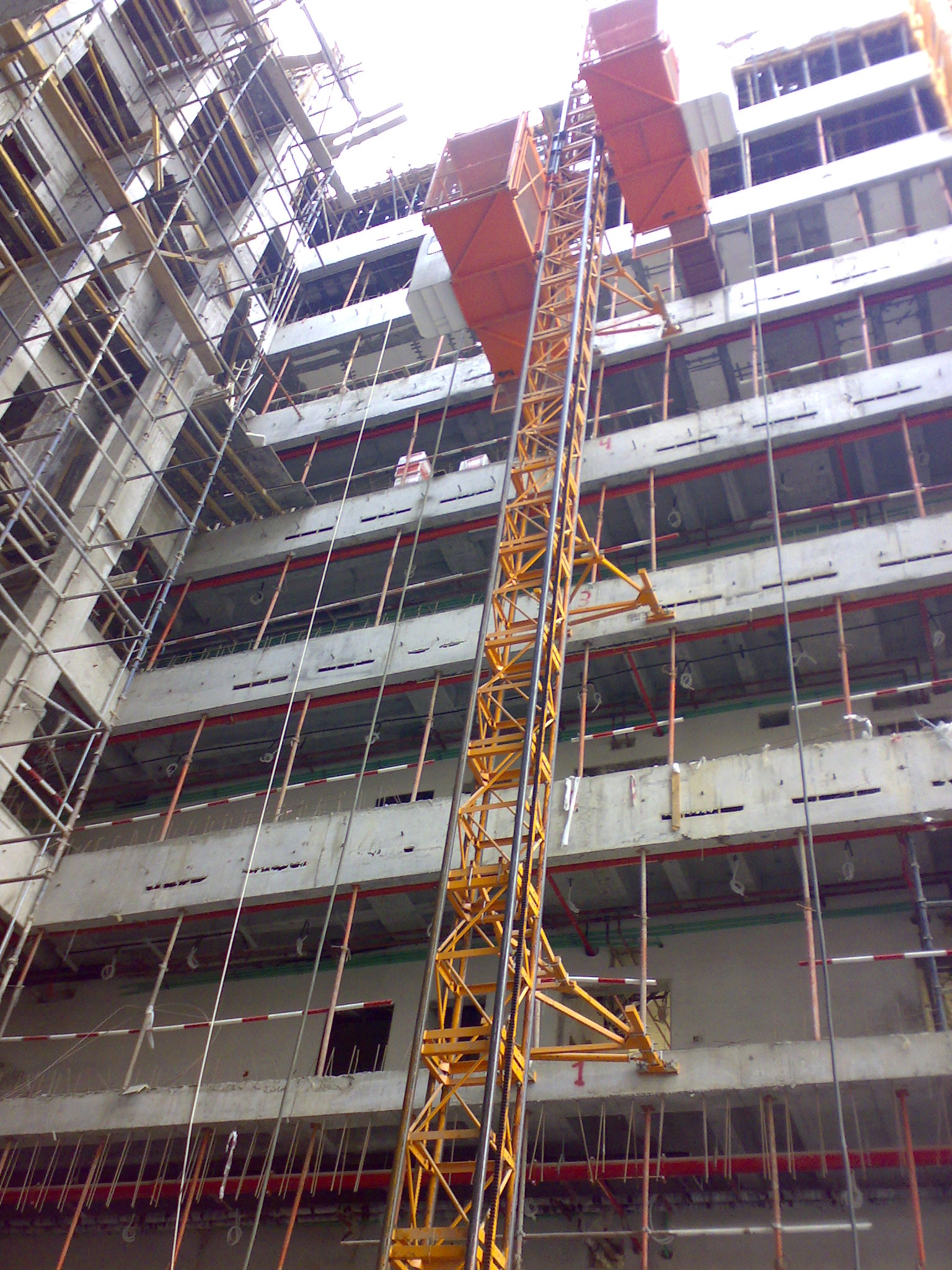 Industrial Construction Hoist Elevator Transport Platforms