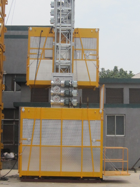 Construction Small Electric Hoist Elevator 0 - 96 m/min for Building