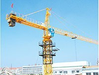 10ton 6 Sets Potain Tower Crane 170m / 6516 Stationary Attached Tower Crane Static on fixing Angle
