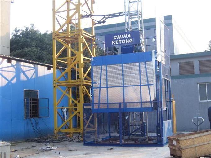 Dipping Zinc Spray Paint Safety Control System Building Cage Hoist Single Cage